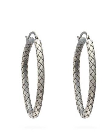 Bottega Veneta Intrecciato Hoop Earrings
