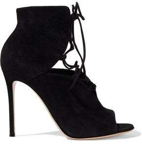 Julia Cutout Suede Ankle Boots