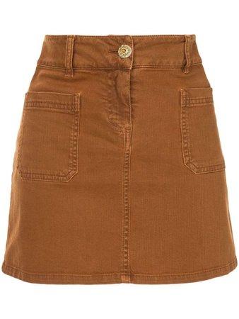 CHANEL PRE-OWNED denim mini skirt