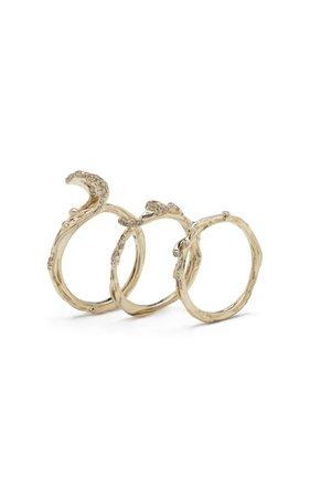 Bibi van der Velden Wave Stackable Ring Two