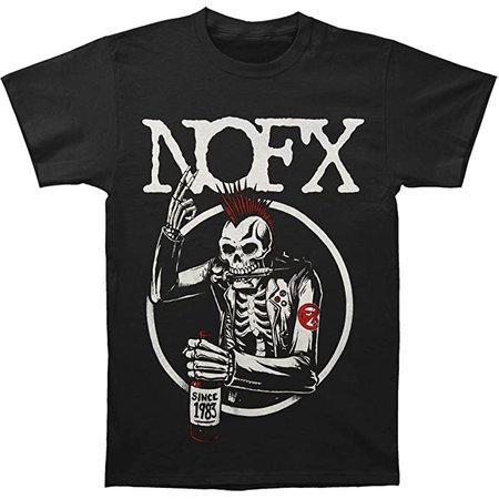 Buy Nofx Men's Old Skull T-Shirt Large Black at Amazon.in