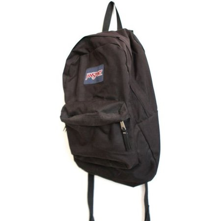 JANSPORT BLACK vintage 90s BACKPACK day pack