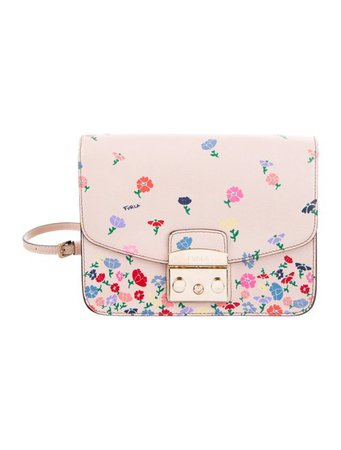 Furla Floral Print Metropolis Crossbody Bag - Handbags - WFU21566 | The RealReal