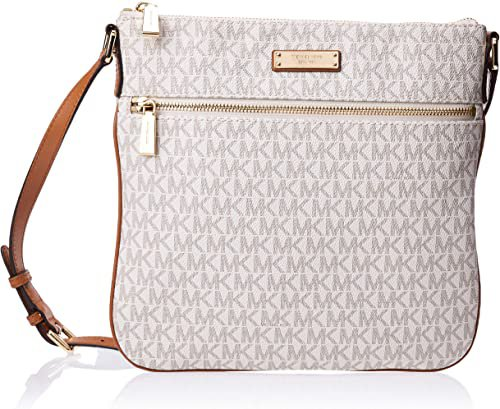 Michael Kors Women's Flat Crossbody, Vanilla, One Size: Michael Kors
