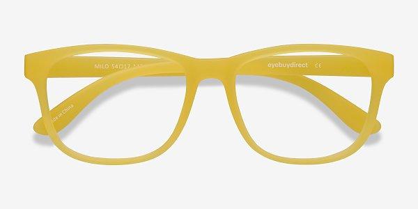 Milo - Rectangle Yellow Frame Eyeglasses | EyeBuyDirect