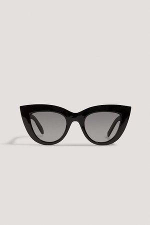 Chunky Pointy Cat Eye Sunglasses Black | na-kd.com