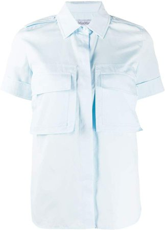 Flap-Pocket Short-Sleeved Shirt