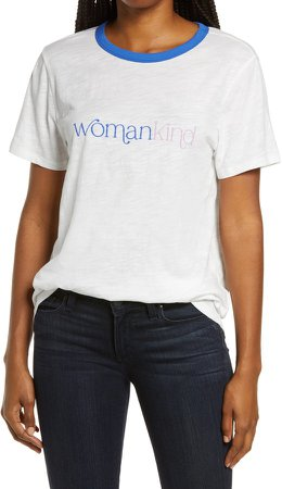 Womankind Graphic Ringer Tee
