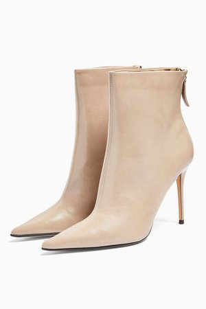 EDA Taupe Point Boots | Topshop