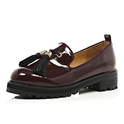 Loafers dark red