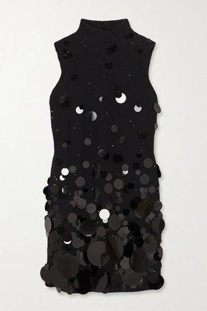 Prada   Paillette-embellished cady mini dress   NET-A-PORTER.COM