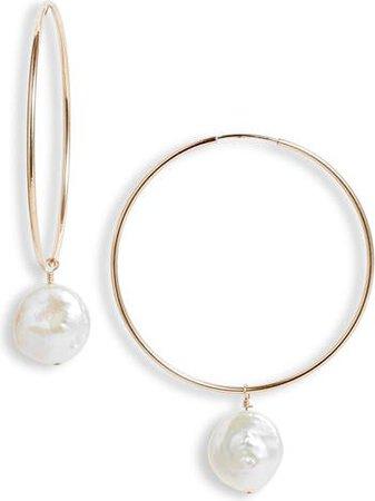 Set & Stones Sierra Pearl Hoop Earrings | Nordstrom