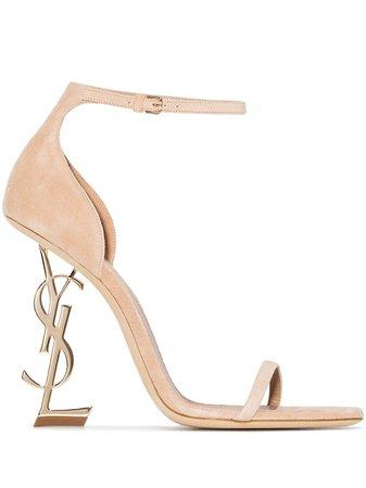 Saint Laurent Opyum 110mm suede sandals