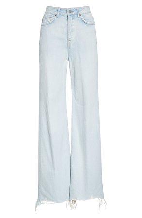 GRLFRND Carla High Waist Wide Leg Jeans (Countdown) | Nordstrom