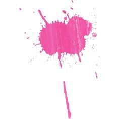 pink paint splat