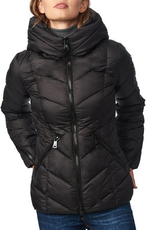 Water Resistant Hooded Puffer Coat