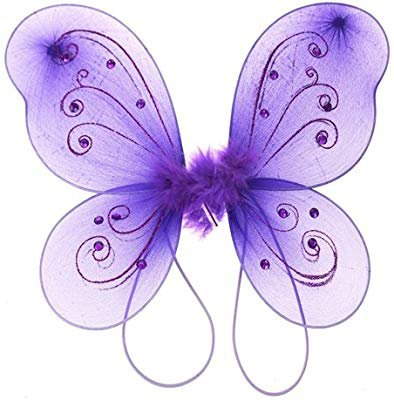 Amazon.com: Homeford Firefly Imports Organza Nylon Butterfly Wings with Glitters, 12-Inch, Pink
