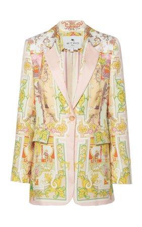 Printed Silk Blazer By Etro | Moda Operandi
