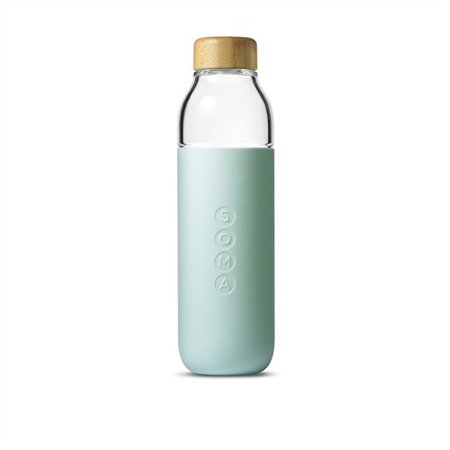 Soma® 17 oz Water Bottle - Mint by Soma   Glass Water Bottles Gifts   www.chapters.indigo.ca