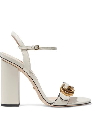 Gucci   Marmont logo-embellished leather sandals   NET-A-PORTER.COM