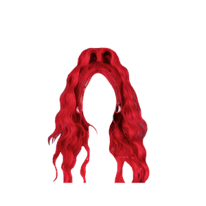 Long Red Hair Half Up