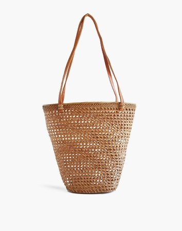 Bembien Rattan Isla Basket Tote Bag