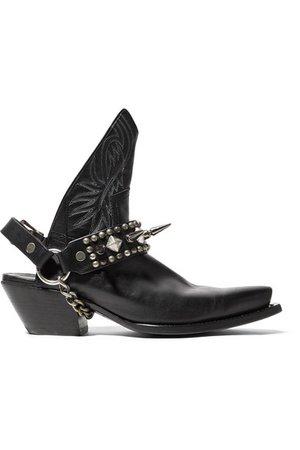 R13 | Studded leather slingback ankle boots | NET-A-PORTER.COM