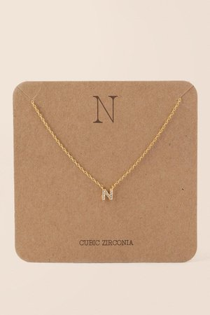 'N' Initial Pendant Necklace | Necklaces | francesca's