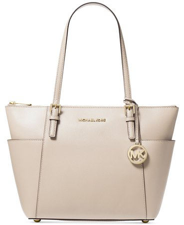 Michael Kors Jet Set Large Crossgrain Leather Tote & Reviews - Handbags & Accessories - Macy's
