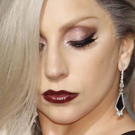 lady gaga burgundy lipstick - Google Search