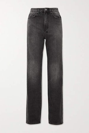 Playback High-rise Straight-leg Jeans - Black