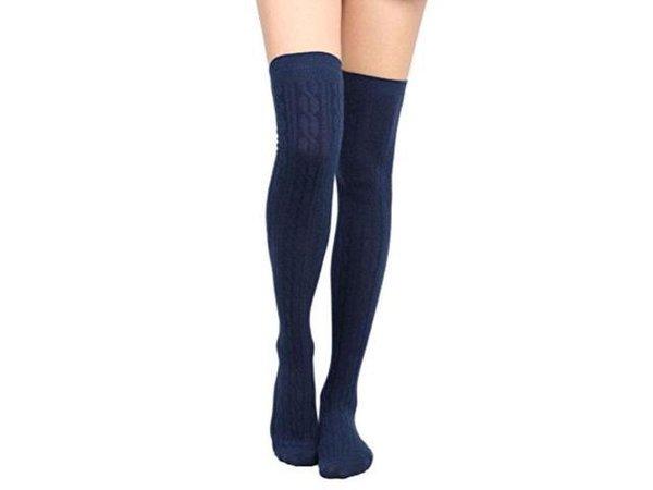 navy knee high socks - Google Search