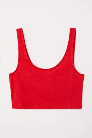 Short Tank Top - Red