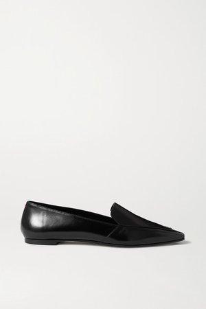 Aurora Leather Loafers - Black