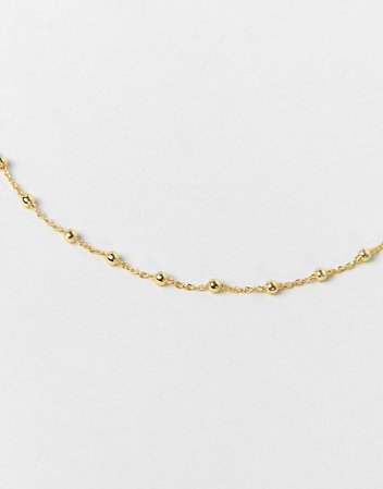 Kingsley Ryan Exclusive delicate chain choker necklace in gold plate | ASOS