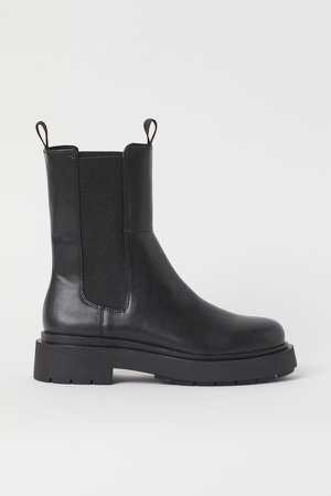 High Profile Chelsea Boots - Black