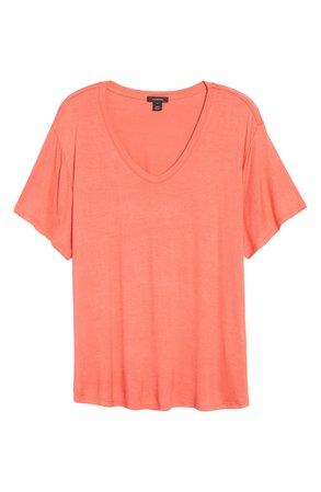 Halogen® V-Neck T-Shirt | Nordstrom