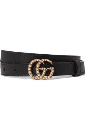 Gucci   Faux pearl-embellished leather belt   NET-A-PORTER.COM