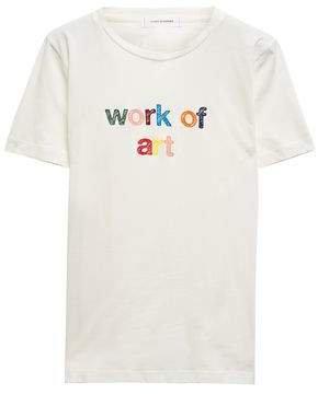 Chinti & Embroidered Organic Cotton-jersey T-shirt