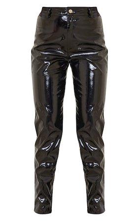 Black Skinny Vinyl Trouser   Trousers   PrettyLittleThing USA