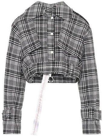 Off-White Cropped plaid jacket