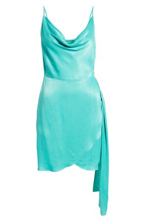 Saylor Mykonos Cowl Neck Satin Dress | Nordstrom