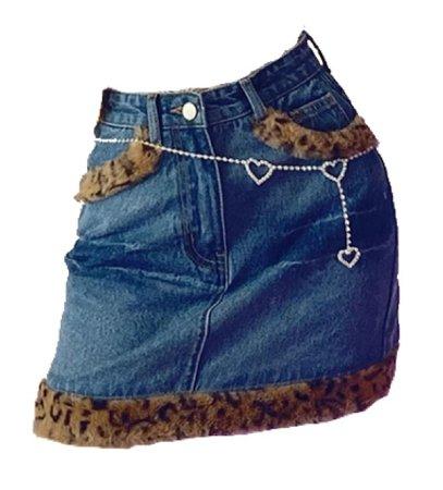 leopard demon mini skirt