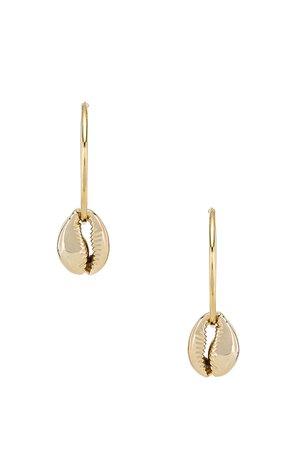 Puka Shell Hoop Earrings