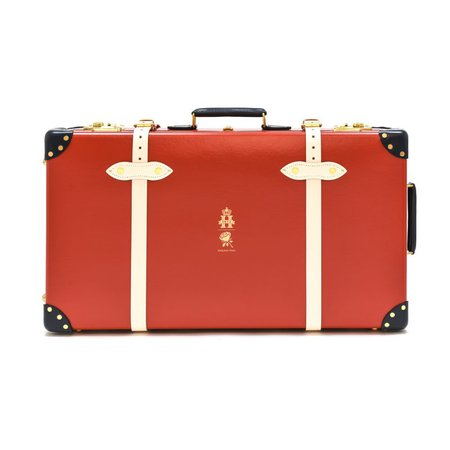 "England Polo 30"" Extra Deep Suitcase with Wheels - Red/Navy/Ivory 