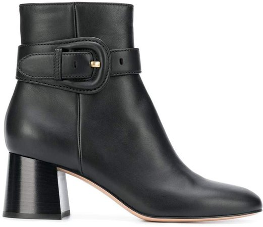 Buckled Strap Ankle Boots