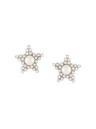 Jennifer Behr Arvida Crystal Earrings 76RC16 Silver | Farfetch