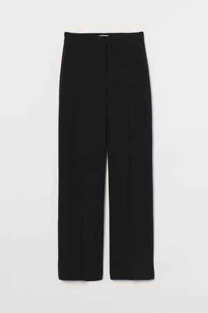 Wide-cut Pants - Black
