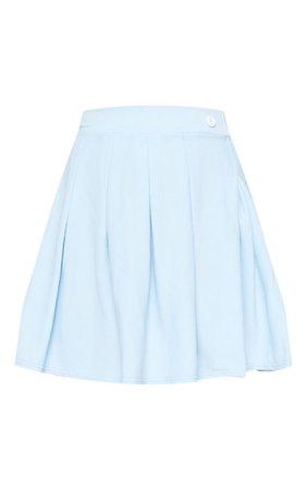 Pastel Blue Pleated Tennis Skirt | Skirts | PrettyLittleThing USA