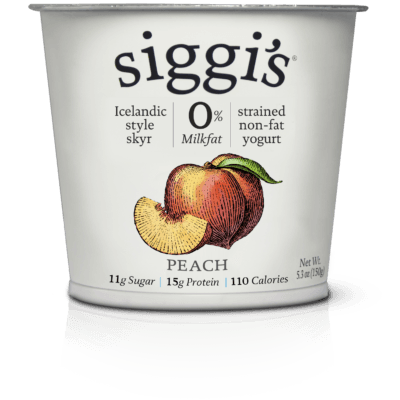 siggi's Icelandic-style yogurt: skyr - Peach Non-Fat